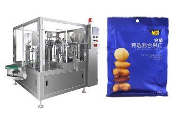 valmiiksi valmistettu laukku elintarvikkeiden rakeiden täyttö tiivistys pakkaus kone