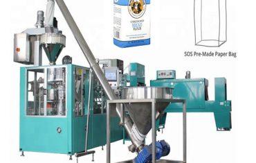 automaattinen paperipussi pakkauslinja jauhoja varten