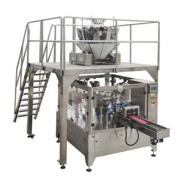 automaattinen pyörivä elintarvikkeiden pakkaus kone vetoketju pussin