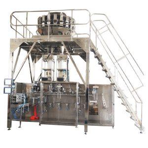 Horisontaalinen valmiiksi valmistettu pakkauskone Multihead Scales for Granules