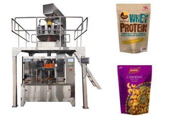 pähkinät vetoketju pussi automaattinen täyttö pakkaus kone