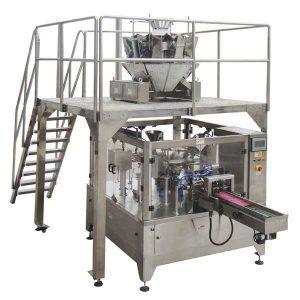 Pyörivä automaattinen vetoketjullisen täytteen tiivistepakkauskone Siemenpähkinöille
