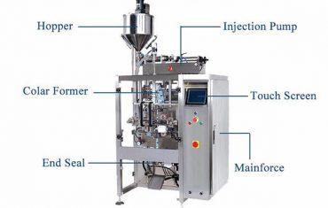 nestemäinen pystysuora täyttötiiviste koneella, jossa on täyteaine